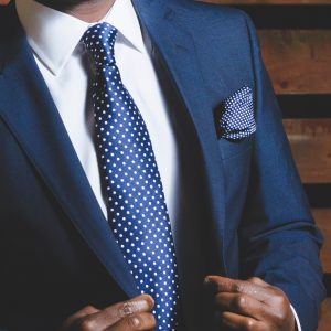 Koningsblauwe stropdas